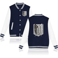 Anime Attack on Titan jackets Sweatshirt Coat Mikasa Ackerman Cosplay Costume Mens Shingeki No Kyojin Baseball jackets