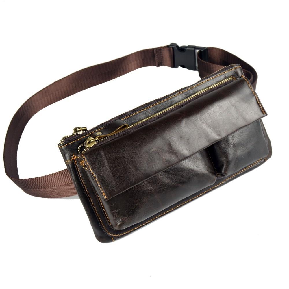 Multifuncional hombre Monedero de cuero genuino Messenger Bag bolso - Bolsos - foto 1