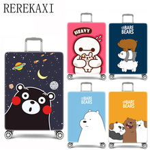Travel luggage sets Cute Bear Elastic Suitcase Baggage Cover Appropriate 18-32 Inch Suitcase sets travel accessories(China)