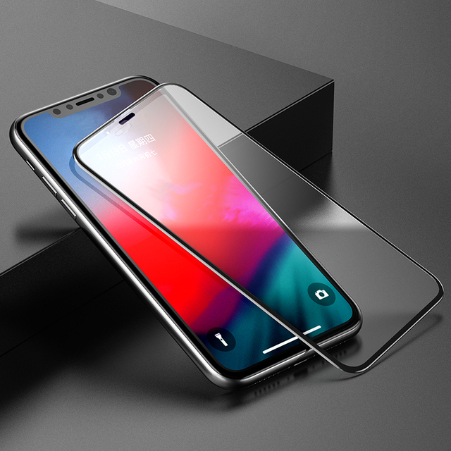 Baseus 0.3mm Full Coverage Tempered Glass For iPhone Xs Xs Max XR 2018 Screen Protector Thin Protective Glass For iPhone X Xs XR Phone Screen Protectors