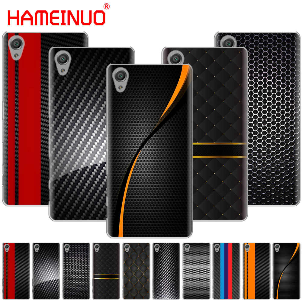 HAMEINUO car carbon fibre print Cover phone Case for sony xperia z2 z3 z4 z5 mini plus aqua M4 M5 E4 E5 E6 C4 C5