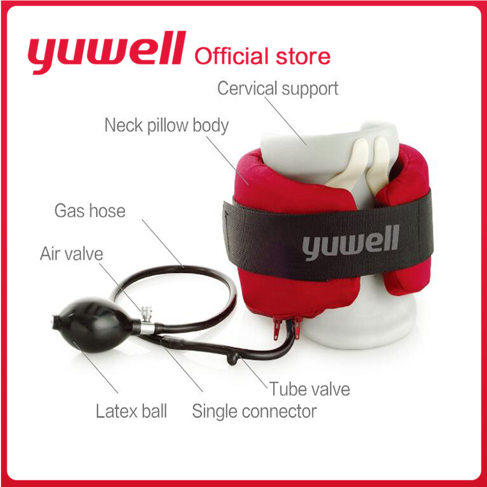 Yuwell Type A B C Neck Traction Therapy Cervical Vertebra Supports Collar Orthopedics Health Care Inflatable