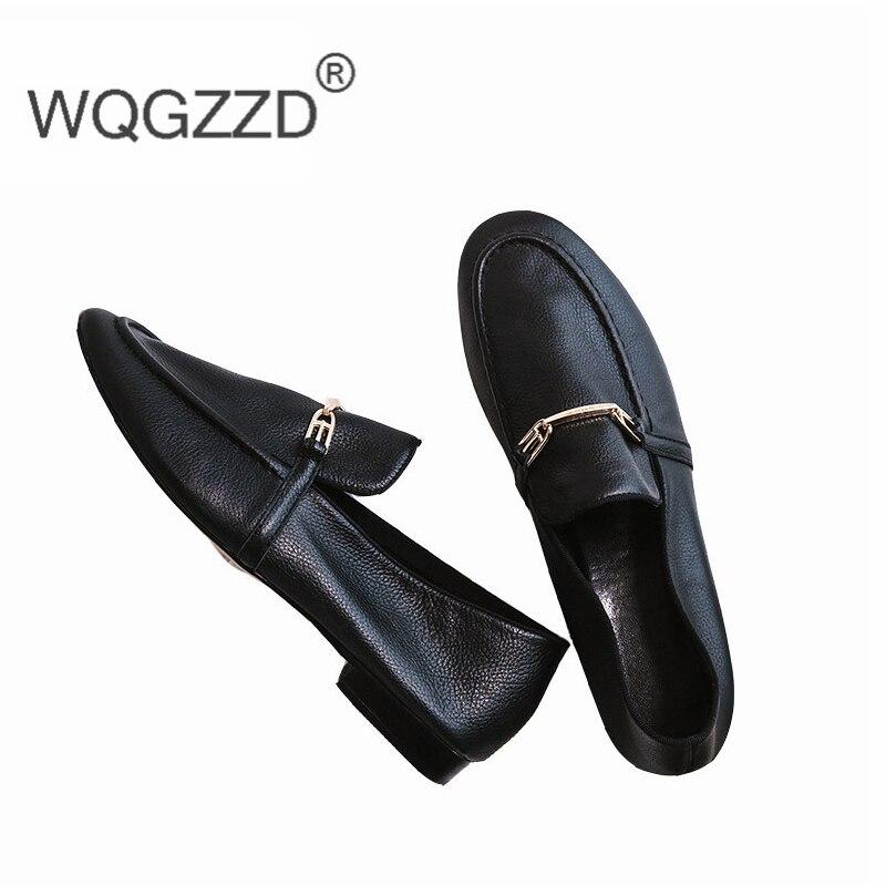 2019 Black Femme Souple brown De En Marque Chaussures Cuir Véritable Appartements Femmes Oxford Mocassins armygreen Confortables Luxe lTF31KJuc