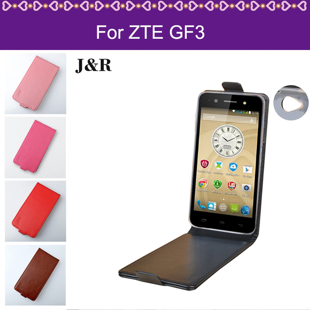 "J&R High Quality Case For ZTE Blade GF3 / GF 3 T320 4.5"" Pure Color Up And Down Leather Flip Cover For ZTE Blade GF3 Phone Case"