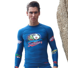 Polyester Rash Guard Sunscreen Waterproof Male Swimsuit Snorkeling Surf Dry Diving Surfing Swimsuits Men Freeshipping Promotion