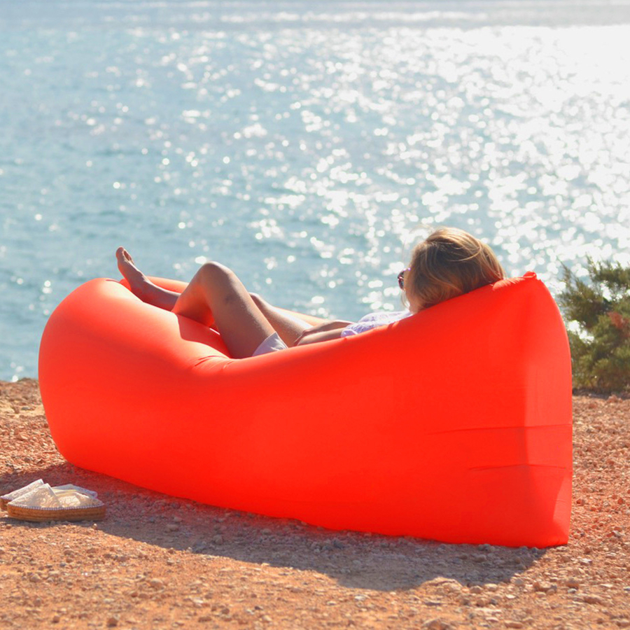 Outdoor Inflatable Sofa Bed Beach Folding Sleeping Bag Garden Couch Seat Lazy Air Lounger Chair