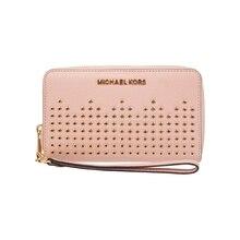 0540b58c506 Michael Kors MK Hayes Zwart Pebble Leather LG Platte MF Telefoon Case  35F8GYEE3L(China)
