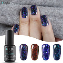 Inagla 8ML Chameleon Sternen Glitter Nagellack UV LED Gel Lack Shiny Lange anhaltende DIY Gel Polish Nagel kunst Maniküre Design(China)