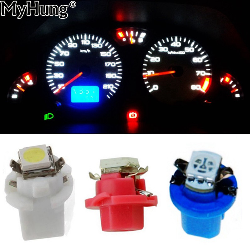 Car Dashboard Lights | 10pcs T5 B8.5D 5050 1smd Gauge LED Car Dashboard Side Interior Dash Lights Bulbs Indicator Warning Bulb Lamp Car Styling