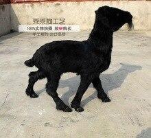 simulation cute black sheep 65x58cm model polyethylene&furs sheep model home decoration props ,model gift d873