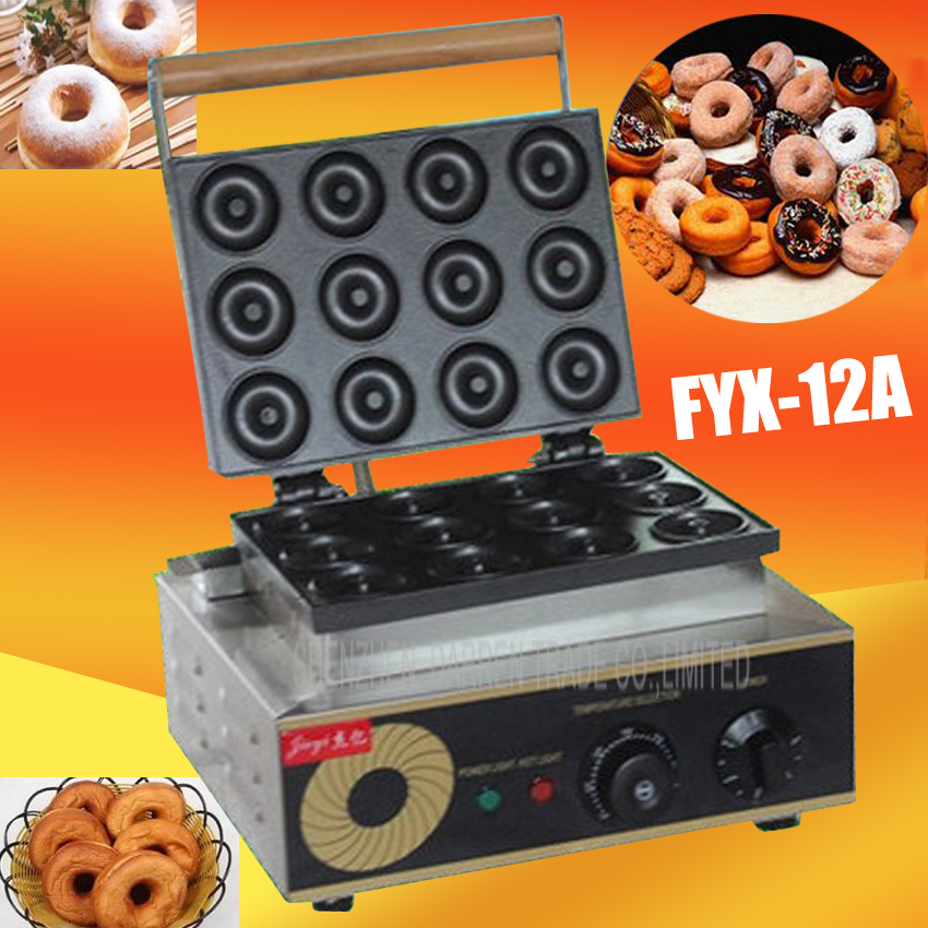 1PC  Electric 12hole ROUND CAKE GRILL sweet donut maker electric for cake baker waffle maker/Cookie machine donut fryer 1pc electric 220v 110v 6 hole round cake grill sweet donut maker electric for cake baker waffle maker