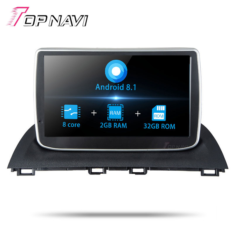 9 Inch Android 8.1 2 din Vehicle Multimedia Players For <font><b>Mazda</b></font> <font><b>3</b></font> Axela 2014 <font><b>2015</b></font> 2016 Car Auto GPS Navigation with Bluetooth MP3 image