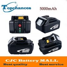 4PCS/Lot High Capacity 5000mAh 18V Li-ion Replacement Battery for Makita BL1850 BL1830 BL1845 BL1840 LXT With Power Light