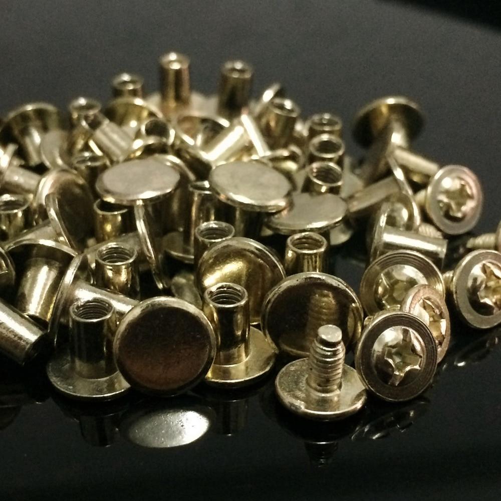100Sets / Lot 8X7MM könnyű arany, kerek, lapos tüskék, - Művészet, kézművesség és varrás