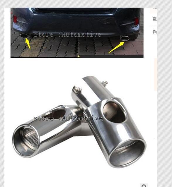 Livraison gratuite! Supérieur étoile en acier inoxydable 2 pièces silencieux, tuyau D'échappement avec logo Pour Honda Civic 2016 2017 2018