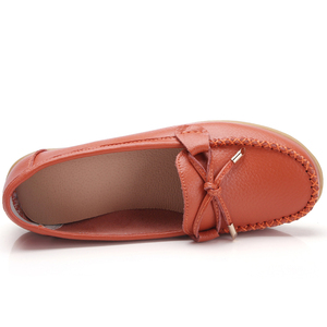 Image 2 - OZERSK Woman Flats Shoes Ballet Flat Sneakers Genuine Leather Summer Soft Moccasins Ladies Boat Ballerina Espadrilles Creepers