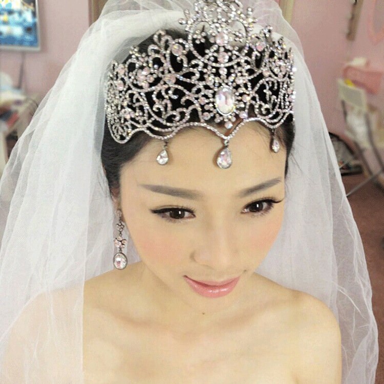 2017 fashion large crystal bridal