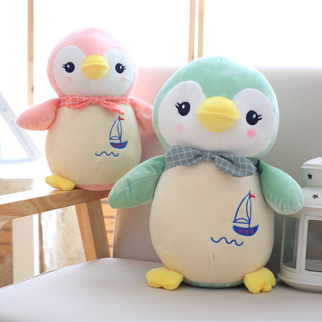 2018 New Style 4 Color Cute Penguin Plush Toy Stuffed Animal Filling