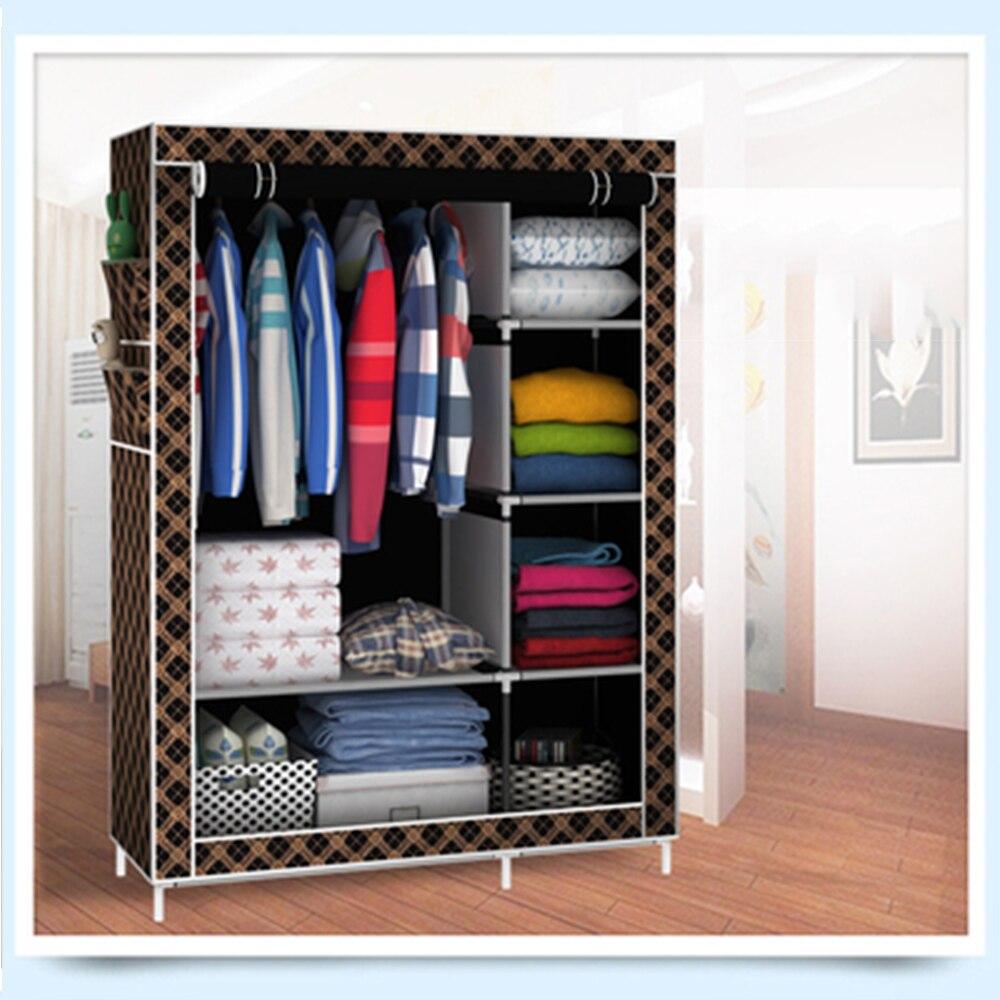 US $46.62 38% OFF storage furniture When the quarter wardrobe DIY Non woven  fold Portable Storage Cabinet bedroom furniture wardrobe bedroom organ-in  ...