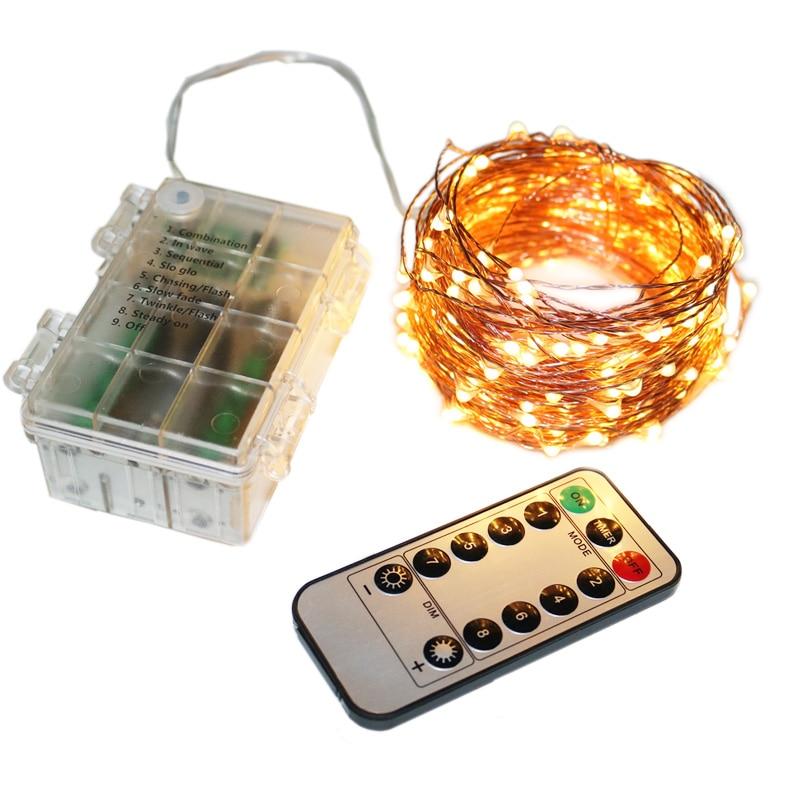 5/10/20M Remote Control Garland Christmas Light Outdoor ...