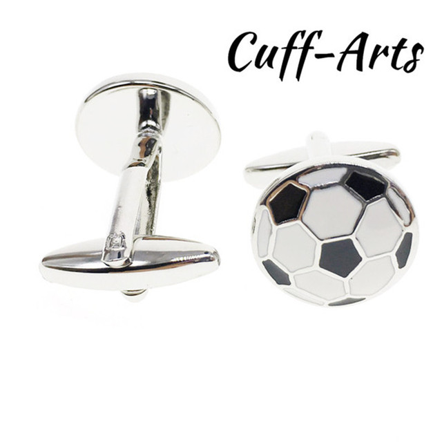85cb7a357d94 Cuffarts Cufflinks For Mens 1 Pair Football Men Jewelry Gemelos Tie Clip  Cuff Links 2018 Football
