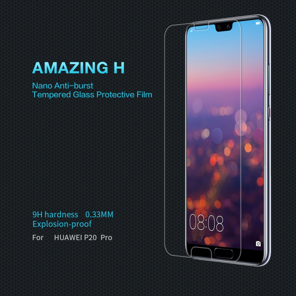 Huawei P20 Pro Lite Honor 8 Screen Protector glass film NILLKIN Amazing H Nanometer 9H protective Glass filmHuawei P20 Pro Lite Honor 8 Screen Protector glass film NILLKIN Amazing H Nanometer 9H protective Glass film