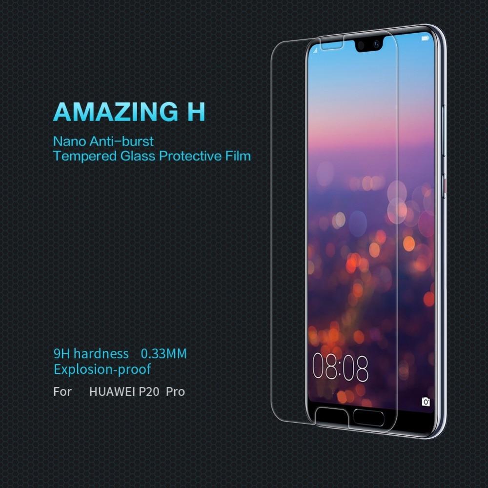 Huawei P20 Pro Lite Honneur 8 Écran Protecteur en verre film NILLKIN Incroyable H Nanomètre 9 H Verre de protection film