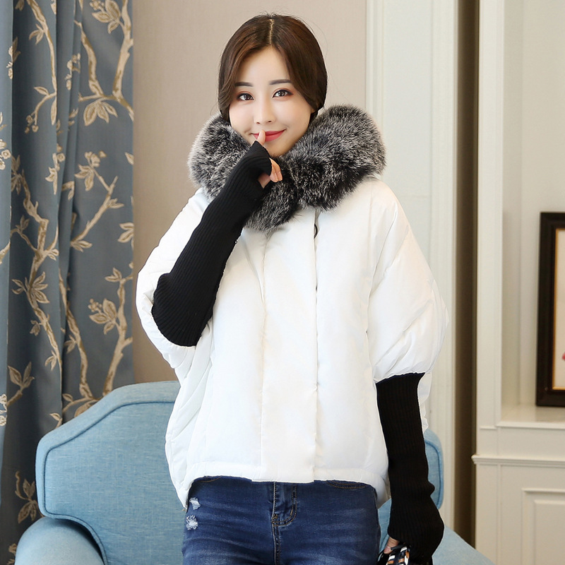 Wmwmnu 2017 Winter fashion Womens Jackets plus size Thick Warm Parka coat Spliced knitting sleeve windproof coat loose Overcoat in Parkas from Women 39 s Clothing
