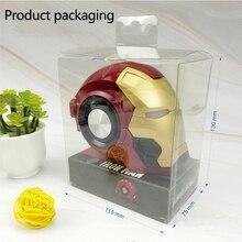 Iron Man Wireless Speaker Portable Bluetooth Speaker subwoofer Marvel Cartoon Mini soundbox with TF USB computer Loudspeaker