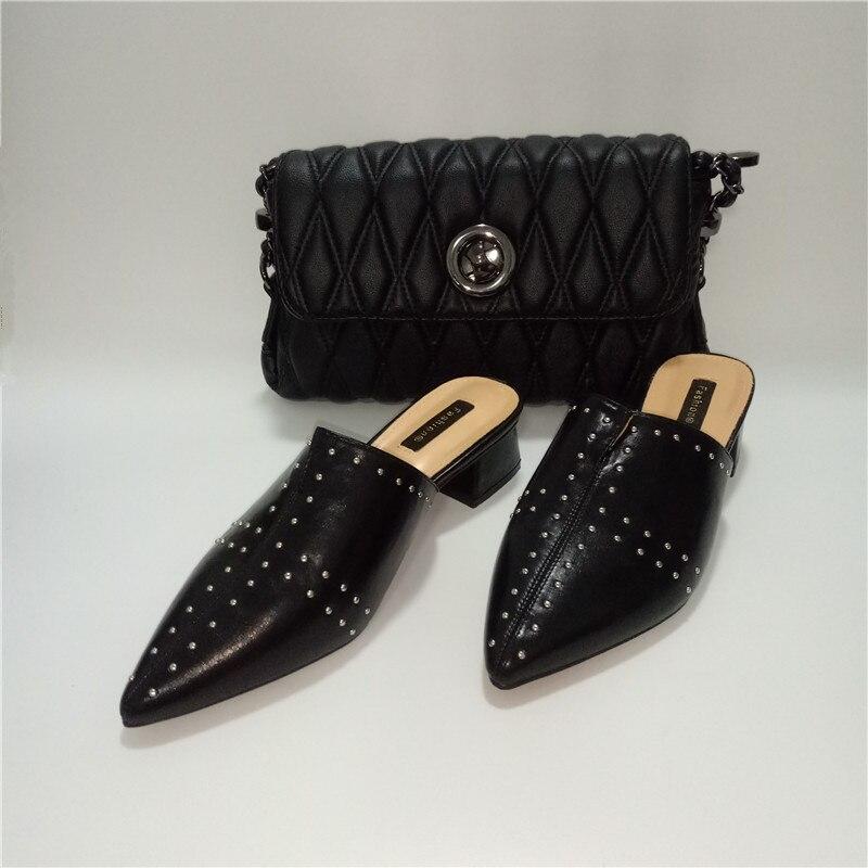 Wenzhan Uñas A93 4 3 Zapatos Para Bolsa 2 Hombro Cuero Pequeños Con De Diario Negro 1 Últimos Grande Uso Más Tamaño 1 Tacón rSqwTYfr