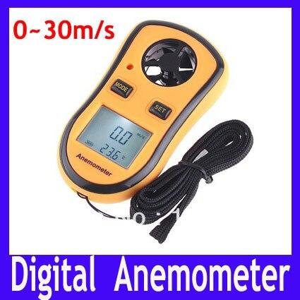 Free Shipping GM8908 Hand Held digital Anemometer 0 to 30 meter per second,Digital Wind Speed Meter,MOQ=1