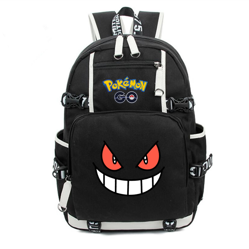 Anime pokemon Gengar Backpack School Bag Cosplay Fans Laptop Shoulder Travel Bags Men Women Work Cartoon Bags