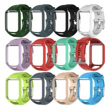 Replacement Watchband for TomTom 2 3 Series Watch Strap Silicone Wrist Band For Runner GPS