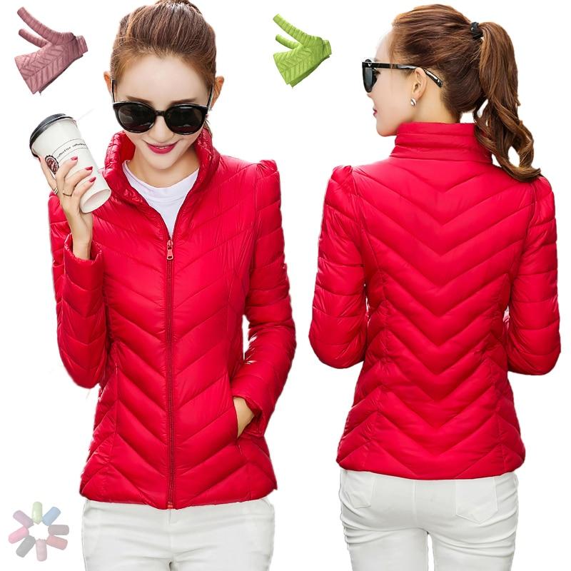 Short Winter Jacket Coat Women White Duck Down Parkas 2016 Thin Slim Warm Solid Korean Ultralight Female Ladies Outwear Overcoat