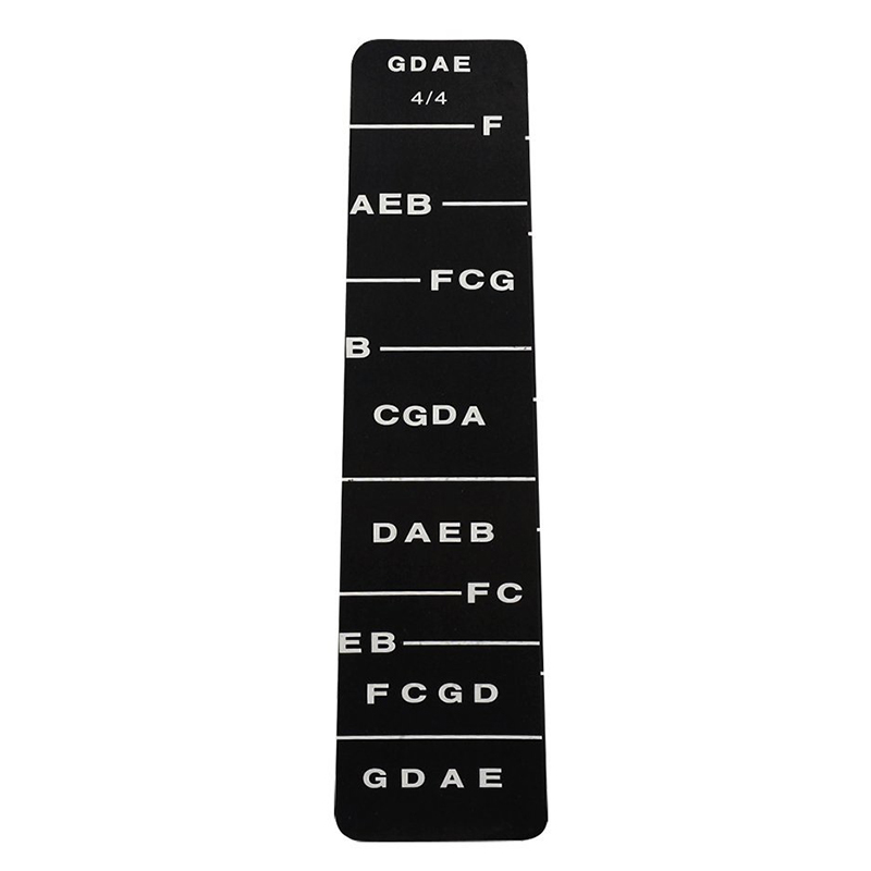 Provided New 1pcs Fretboard Fingerboard Fret Finger Chart Guide Label Sticker Poster For Full 4/4 Size Violin Fiddle Harmonious Colors Sports & Entertainment Musical Instruments