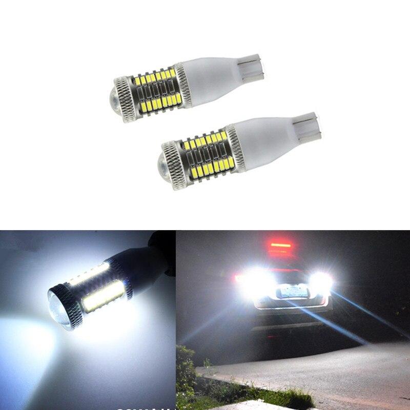 2x T15 W16W Plasma LED Projector Blub Tail Reverse Light For Infiniti G37 G25 QX50/60 M37 M25L FX50 FX37 FX35 JX35 EX37 EX25 ...