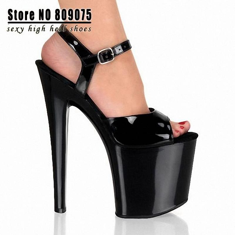 Office & School Supplies Reliable 8 Inch Stiletto High Heels Shoes Open Toe Womens Shoes 20cm High-heeled Sandals Platform Dance Shoes Wedding Shoes