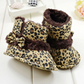 Stylish Leopard Bow-Knot Baby Girls Snow Boots Toddler Infant Soft Bottom Lovely Shoes
