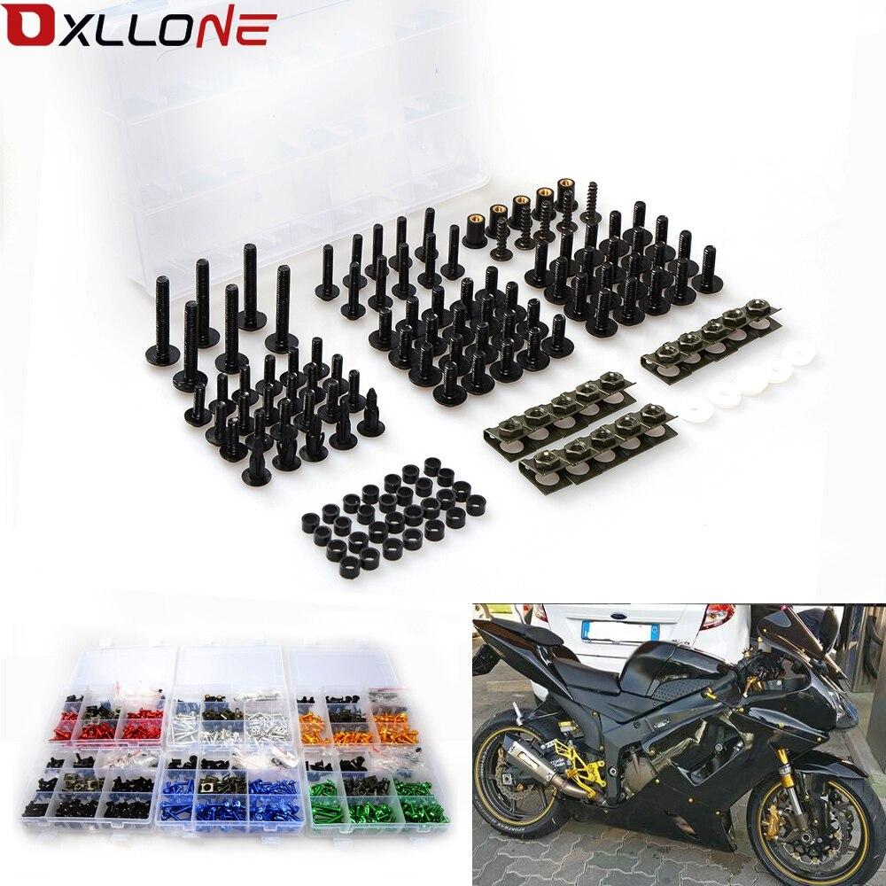 Boulons de carénage de pare-brise de moto écrous vis rondelle Kit attache Clips vis 40 pièces pour honda CBR 600 F2, F3, F4, F4i CBR600RR