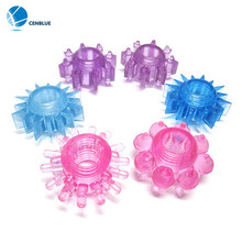 Flirt Delay Crystal Sets,The Sun Ring of Solid Fine Delay Ring Sex Toys Soft contacts stimulate female sexual pleasure(China)