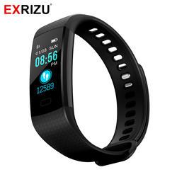EXRIZU Y5 Smart Band Цвет Экран Bluetooth Smart Браслет монитор сердечного ритма активности Фитнес трекер Браслет для iPhone X 8
