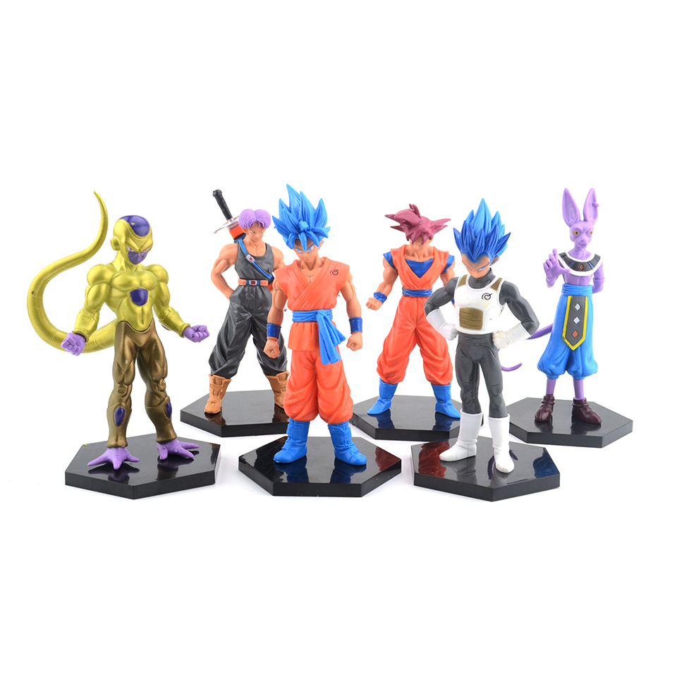 13-15cm Dragon Ball Z Son Goku Vegeta Trunks Anime Action Figures Collectible Brinquedos Model Doll Kids Toys For Boys jlb 33901 33906 dragon ball z son goku vegeta master roshi minifigures toys building blocks sets model bricks figures legoelieds page 5