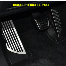 3Pcs Original Non-Slip Car Foot Rest Accelerator Gas Brake Pedal Pad Cover For Alfa Romeo Giulia Stelvio 17-19 Footrest Pedals