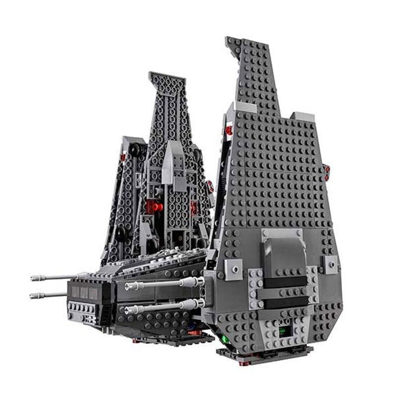 LEPIN 05006 Star 1053Pcs Toys Wars The Force Awakens Kylo Ren Command Shuttle Model Building Kits Blocks Bricks 75104 Boy Gift