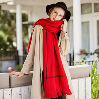 Cashmere Scarf Women Winter Warm Oversized Blanket Pashmina Wool Shawls And Scarves Luxury Brand Ladies Solid