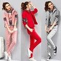 Winter Casual Tracksuits Long Sleeve Hooded Women Sweatshirts+Vest+Pants 3 Piece Set Sportswear Women Suits ropa deportiva mujer