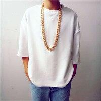 Aluminum Chain Men S Chain Cool American Style Hip Hop 45cm 60cm 95cm Silver Gold Color