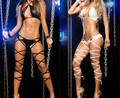 2016 Nueva Vinculante Lencería Erótica Para Mujeres Body Negro Blanco Trajes Atractivos del Cordón de Las Mujeres Ropa Interior Sexy Body Stocking