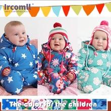 Ircomll 2019 Newborn Baby Rompers Winter Kid Baby Girl Boy Infant Clothes Camo Flower Hooded Jumpsuit Kids Outwear onesie