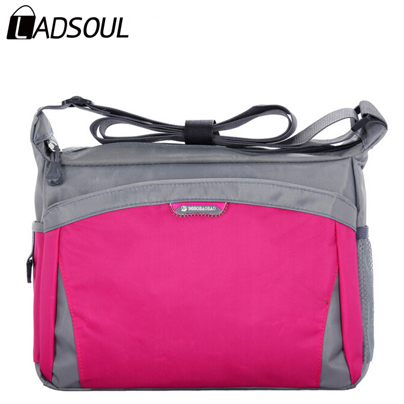 Ladsoul fashion nylon women handbags casual shoulder bag 2017 hot sale women messenger bags travel bag totes ladies bags hl761/g